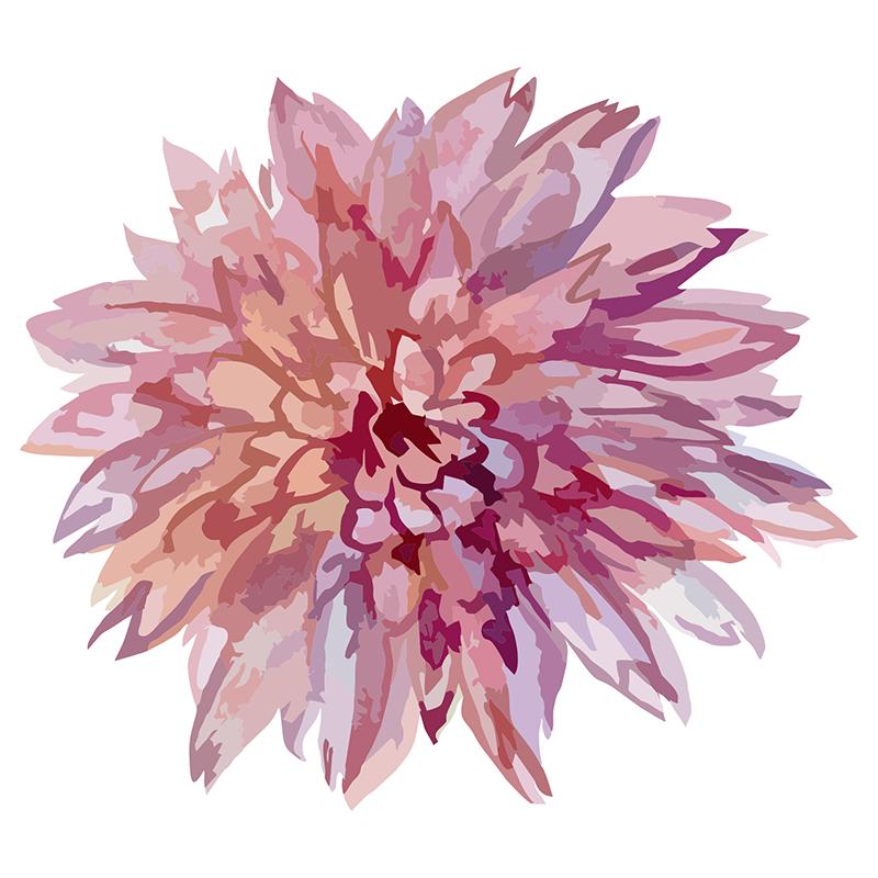 Naklejka Malinowa rozeta