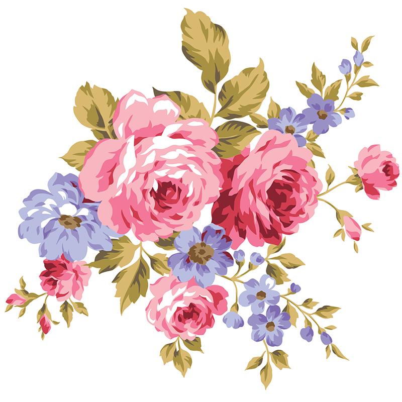 Naklejka Różana symfonia