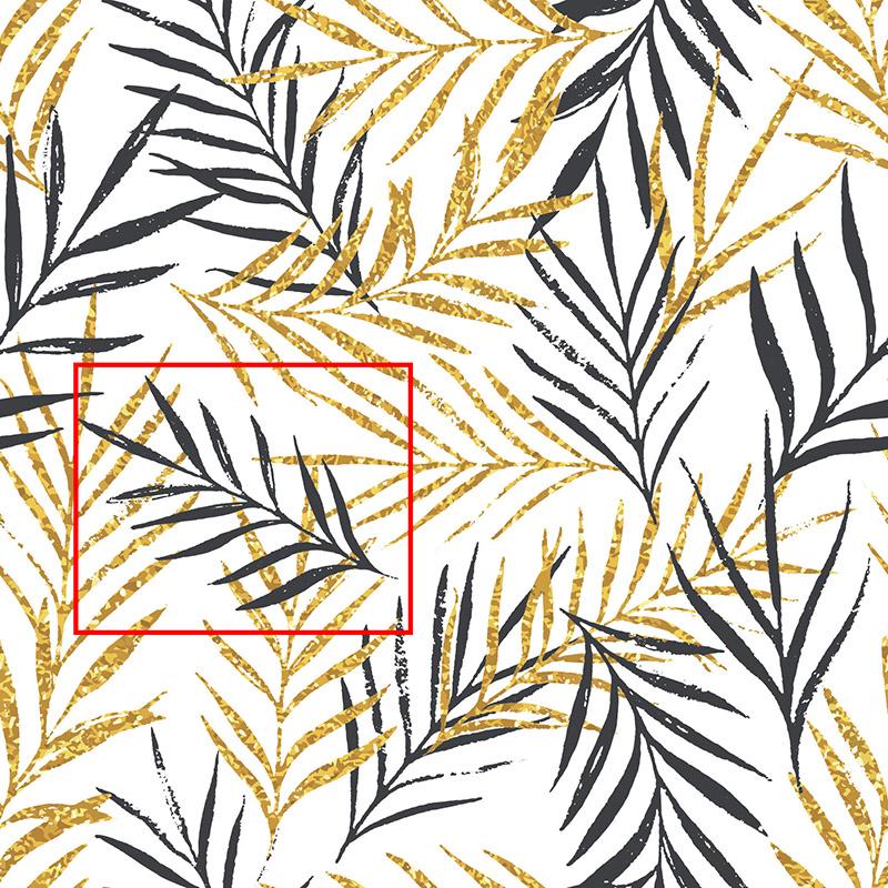 Tapeta Złoto tropików